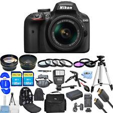 Nikon D3400 DSLR Camera with 18-55mm Lens (Black) Ultimate Photography Bundle