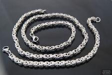 Juego Collar 70cm köniigsarmband 20cm 5x5mm de acero inoxidable NUEVO fg4