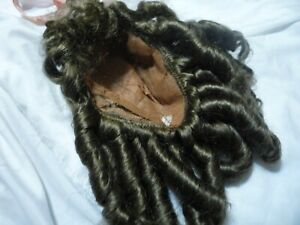 doll wig size 16 brown with curls