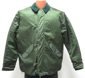 vtg GREEN EXTREME COLD WEATHER Jacket LARGE 1978 Impermeable Alpha 70s army L