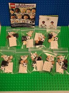 Lego 71014 DFB Mannschaft Germany Football Team Lot of 9 Minifigures CMF Set HTF