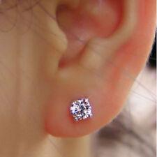 1.00 Ct Solitaire VVS1 Diamond Earring Studs 18K Hallmarked White Gold Earrings