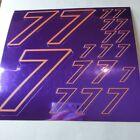 PURPLE CHROME /GOLD #7's Decal Sticker Sheet DEFECTS  1/8-1/10-1/12 RC Mo BoxD