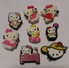 Hello Kitty 8pc CHARMS LOT, BRACELETS, CRAFTS, HAIR BOW CENTERS, ORNAMENTS, MORE