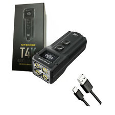 Nitecore T4K Type-C Rechargeable Keychain XP-L2 Flashlight - 4000 Lumen