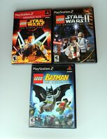 Lot of 3 PS2 Lego (Star Wars, Star Wars II & Batman) Tested & Works