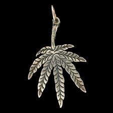 Cannabisblatt gross 925er Silber Schmuck Anhänger