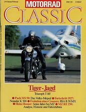Motorrad Classic 1/91 1991 BSA B50MX MZ RE 250 Neander K Puch MS 50 Triumph T110