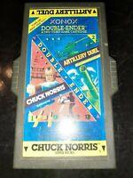 Chuck Norris SuperKicks / Artillery Duel Atari 2600 Game Double-Ender Xonox 1983