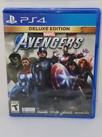 Marvel Avengers Deluxe Edition (PlayStation 4, PS4, 2020) *CIB* Complete