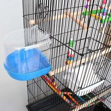 Bird Bath Playing Water Cleaning Bird Small Bowl Cage Feed Accessories Home NEW