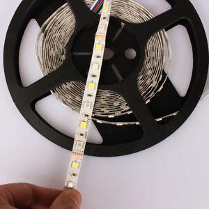 DC 12V 16.5ft  5050 RGBW multicolor + ww 5pin LED strip reel flexible 300leds