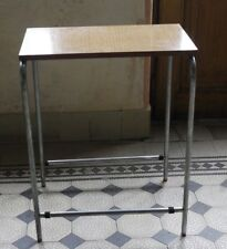 Chrome TV table halabala thonet style 1980's