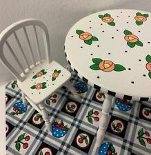 Vintage Mary Engelbreit Doll Dollhouse Miniature Table And (2) Chairs