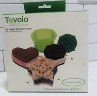 Tovolo Ice Cream Sandwich Molds Set of 3 classic heart, star, Squicle shapes
