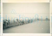 1950s Royal Artillery Paras Sinai Egypt Photo Soldiers Heading to aircraft jump