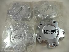 ICE Metal Wheels Chrome Custom Wheel Center Caps # 173B (SET OF 4)