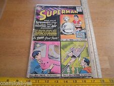 Superman 132 comic 1950's G+ Robot 10 cent cover