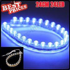 Bande de LED bleu 24CM Car Auto Moto flexible Grill ampoule lampe 12V