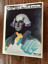 PETER MAX PAINTS AMERICA EDITED BY VICTOR ZURBEL 1976 HC