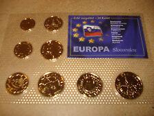 2007 KMS SLOWENIEN  vergoldet 24 KARAT