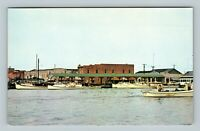 Crisfield MD, The Marina, Maryland Chrome Postcard