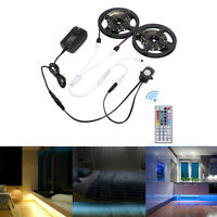 1-5M Flexible RGB LED Strip Motion Activated Bed Light Under Bed Cabinet Kitchen