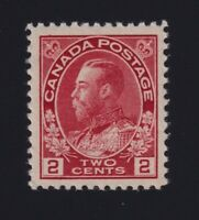 Canada Sc #106 (1917-22) 2c carmine Admiral Mint VF NH
