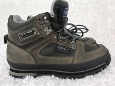 LL Bean Womens Hiking Work Boots Knife Edge Gore Tex Leather Suede Shoes Size 8