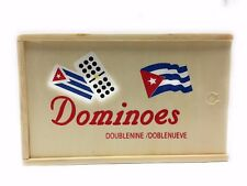 Double Nine 9 Doble Nueve Cuban Flag Dominoes Traditional Board Game