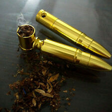 2017 Fashion Collectible!Bullet Shape Pipe Golden Filter Chinese Medicine Holder