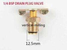 AIR COMPRESSOR TANK 1/4 BSP DRAIN PLUG VALVE /TAP/ DRAIN COCK WITH T-HANDLE 3pc