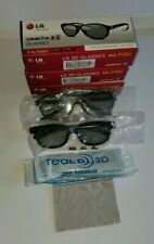 lot of 9 LG & real D Cinema 3-D Glasses 8 adult and 1 child in boxes and plastic