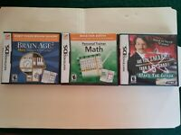 LOT of 3 Nintendo DS games Are You Smarter than a 5th grader Brain Age 2 Math