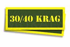 30-40 KRAG Ammo Can Labels for Ammunition Case 3