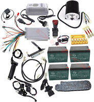 Electric Brushless Motor Complete Kit 48V 1800W Speed Controller Battery Reverse
