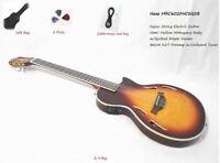 Haze MRC602FHCEQ Electric Nylon String Guitar,Semi-Hollow Body,Piezo Pickup+Bag