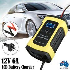 AU Battery Charger Smart 12V 6A Model 6 Stage Trickle Digital LCD Bike Car ATV