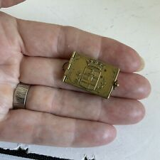 More details for antique french world war 1 miniature photo book locket of ypres pendant fob