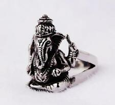 huge men's  316L stainless steel sliver punk style elephant head ring size11
