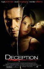 Deception movie poster Hugh Jackman, Ewan McGregor, Michelle Williams