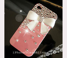 handmade bling i phone 4/4G/ 4s case cover skin bling crystal i phone 4 case bow