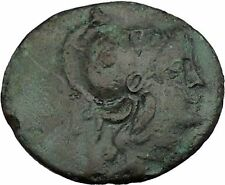 ILION site of Ancient Troy 133BC Athena Authentic Greek Coin RARE i37413