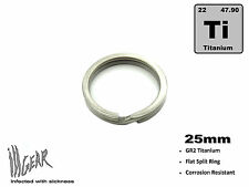 ill Gear 25mm OSD Titanium Key Chain Ti Split Ring for EDC Flashlights Lanyards