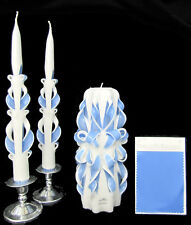 Hand Carved Wedding Unity Candles Set - 100% Custom!