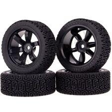 Set RC 1/10 Car On-Road Racing Flat Run Wheel Rim Tyre Tires Pull Rally 701-8014