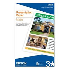Genuine Epson S041067 8.5x14 Presentation smooth matte photo paper 100 sheets