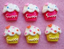 20 SWEET Cupcake Resin Flatback Button/sewing/pink/craft/scrapbooking/bow B118
