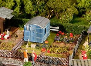 FALLER 180490 Gauge H0 Allotment With Construction Wagon # New Boxed #