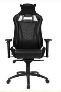 Everracer Office and Gaming PU Leather Premium Chair White & Black
